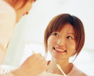 インプラントの歯磨きの写真